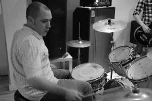 Doug on drums